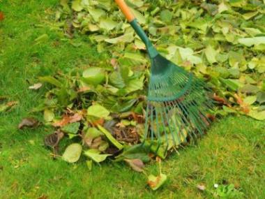 Jak uklidit na zahradě listí a co s ním?
