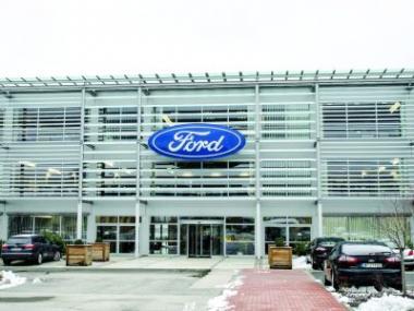 Logo Školící centrum Fordu zmateriálů Lindab