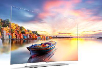 Logo Vyměňte starý televizor zatenký, ohebný displej