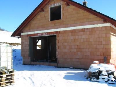 V Lidečku dokončují pasivní dům s tepelnou ztrátou do 2 kW