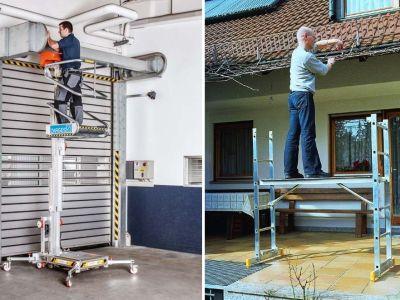 Pracovní plošiny, schodiště, pojízdná schodiště