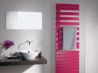 Koupelnové radiátory, které okouzlí svou barvou