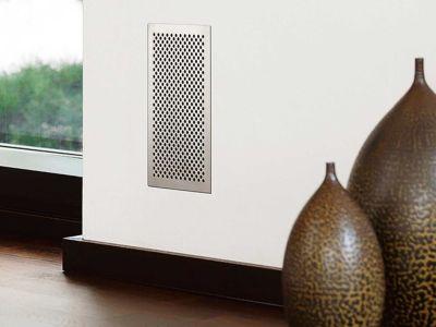 Logo Dokonalý vzhled designových mřížek aventilů pro řízené větrání arekuperaci tepla