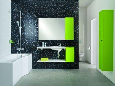 Hravá mozaika oživí nejen koupelnu