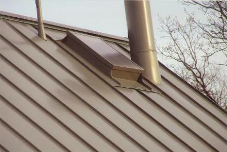 Plechová střecha sklon