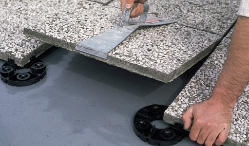 Pokládka dlažby na beton