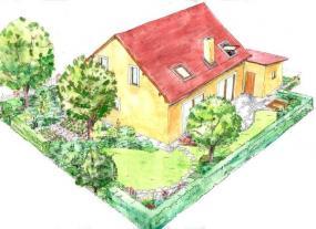 Zadní část zahrady varianta A