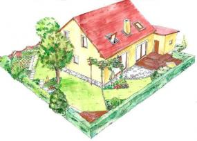 Zadní část zahrady varianta B
