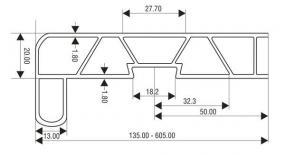 Foto OKNOSERVIS - Vnitřní PVC parapetní deska