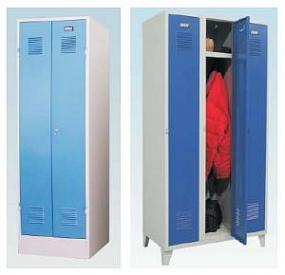 Svařované šatní skříně KOVOS.