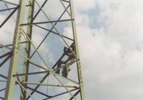 Nátěr stožáru 110 kV.