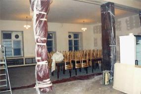 Foto A1 servis CZ, s.r.o. Prostor klubu připravený k vymalování.