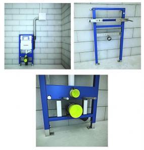 Souprava pro odsávání zápachu, souprava pro upevnění umyvadel, podpora pro WC.