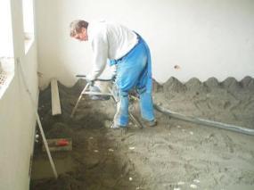 Betonování podlahy postup