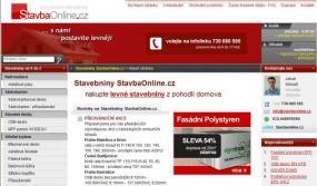 Obr: StavbaOnline.cz, hlavní stránka obchodu