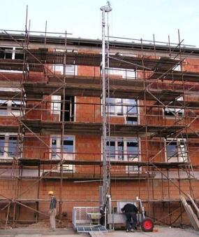 DE JONG LIFTEN CO, lanový stavební výtah