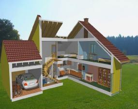 Typový nízkoenergetický dům NOVA 101/38o - INTERIÉR