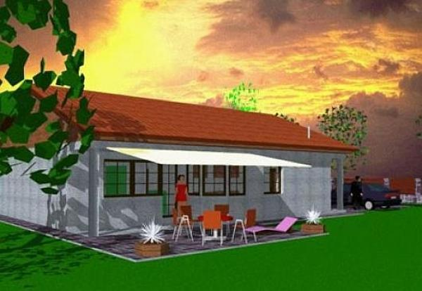 Obr: ARNET, typový dům v Pacově - 3D návrh
