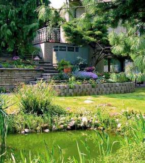 Foto: PORTOBELLO, tepelné čerpadlo maskované zahradou