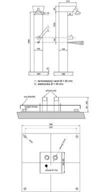 SANELA: montážní schéma zahradní sprchy