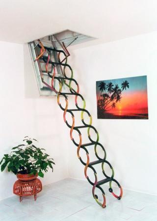 Foto: INVO CB, skládací schodiště Protipožární