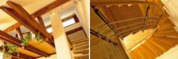 Obr: VELOX - HOFFMANN, velkorysý průhled z ložnice skrz galerii a elegantní křivky schodiště