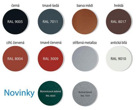 Obr: ROVA - CZECH, barvy systému odvodnění