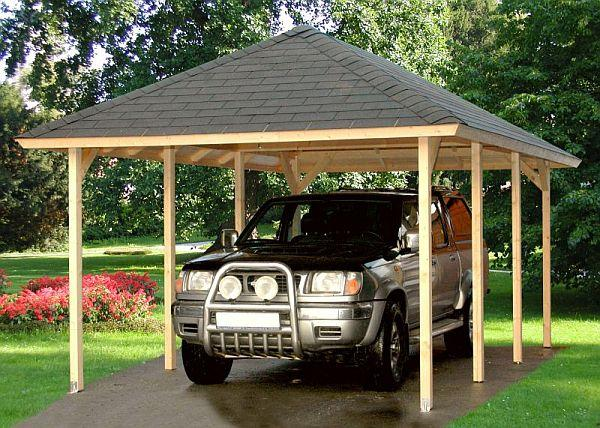 Foto: PALUBKY Dřevoprodej - Žárovná, přístřešek pro garážové stání PORT 3050