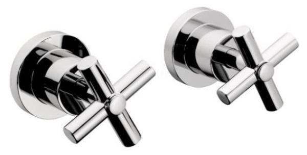 JANUS, sprchová podomítková baterie, keramické vršky, chrom