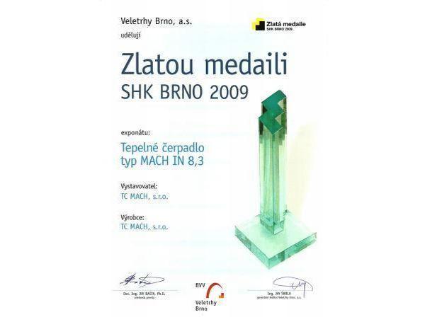 Zlatá medaile SHK 2009