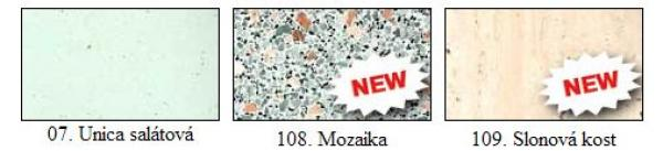 Obr: MOSS BUČOVICE, nové dezény parapetů