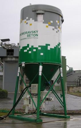 Foto: Českomoravský beton, mobilní zařízení pro výrobu ANHYMENTu