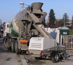 Foto: Českomoravský beton, ANHYMENT® distribuce na stavbu a čerpání