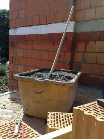Foto: Českomoravský beton, MALMIX® na stavbě připravený pro zdění
