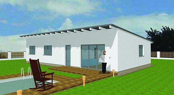 Obr: ENERGO CONSULTING, dům s pultovou střechou