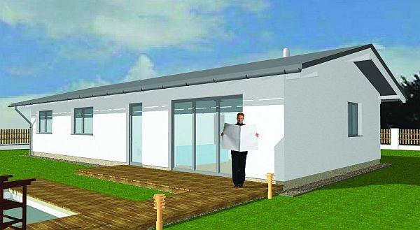 Obr: ENERGO CONSULTING, dům se sedlovou střechou s přesahem