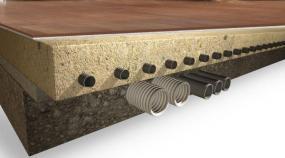 Foto: Českomoravský beton, ANHYMENT® skladba podlahy s podlahovým vytápěním