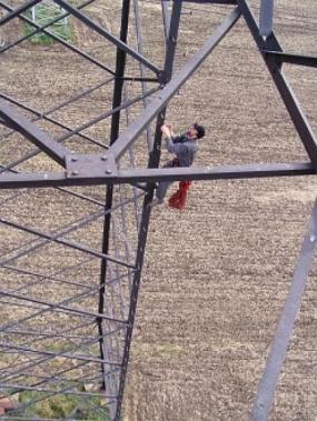 Foto: 2JK, nátěry stožárů vysokého napětí