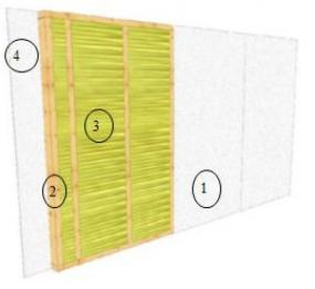 Obr: Dřevostavby OK, vnitřní stěna