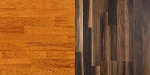 Podlahy Ariket: doussie a kouřový dub
