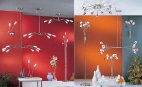 Foto: www.svitidla.cz, sady moderních svítidel (stropní, nástěnná a lampy)