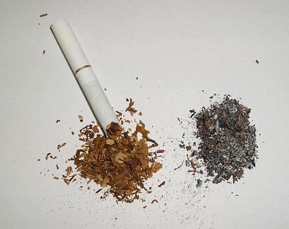 Foto: ČESKÉSTAVBY.cz, tabák a cigaretový popel
