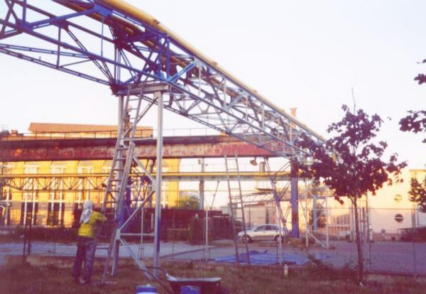 Foto: Bretong, nátěr potrubního mostu