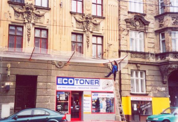 Foto: Bretong, instalace ochranné sítě