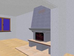 Obr: URBANSTAVBY, 3D návrh krbu