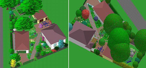 Břasy - zahrada s ovocnými stromy u rekonstruované  stylové venkovské stavby