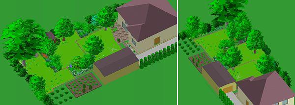 Hrádecká - zahrada s užitkovou částí