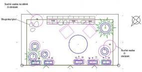 Bručná - balkon  řadového domku