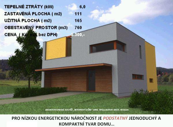 Foto: Ing. Arch. Josef Smola, jednoduchý a kompaktní tvar domu