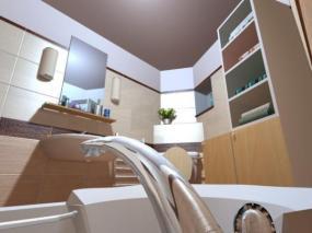 Vizualizace koupelny v bytovém domě